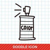 Malování stříkací barvy čmáranice vektorové ilustrace