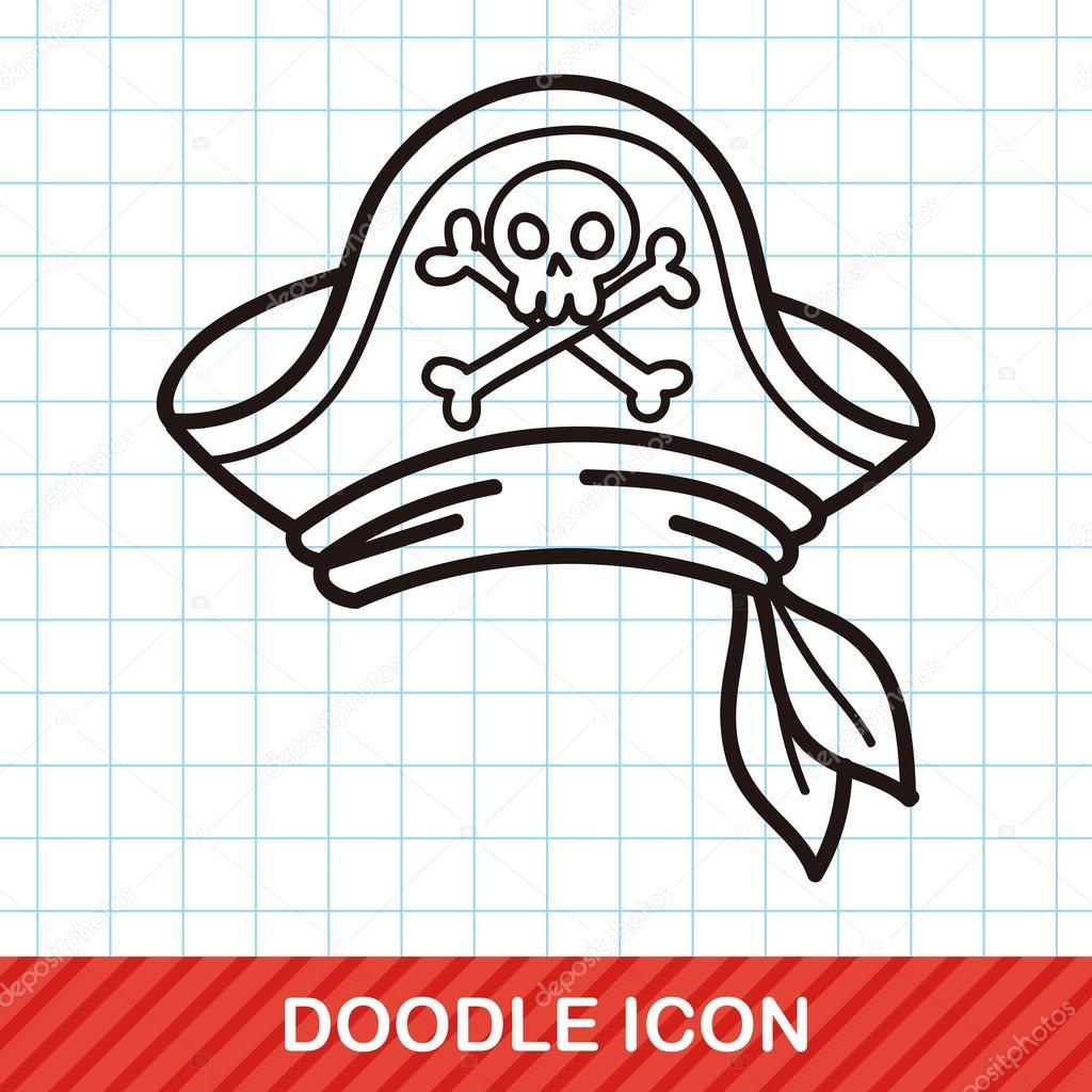 Korsan şapkası Doodle Vektör çizim Stok Vektör Wenchiawang 94481196
