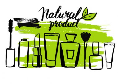 Set of natural eco cosmetics
