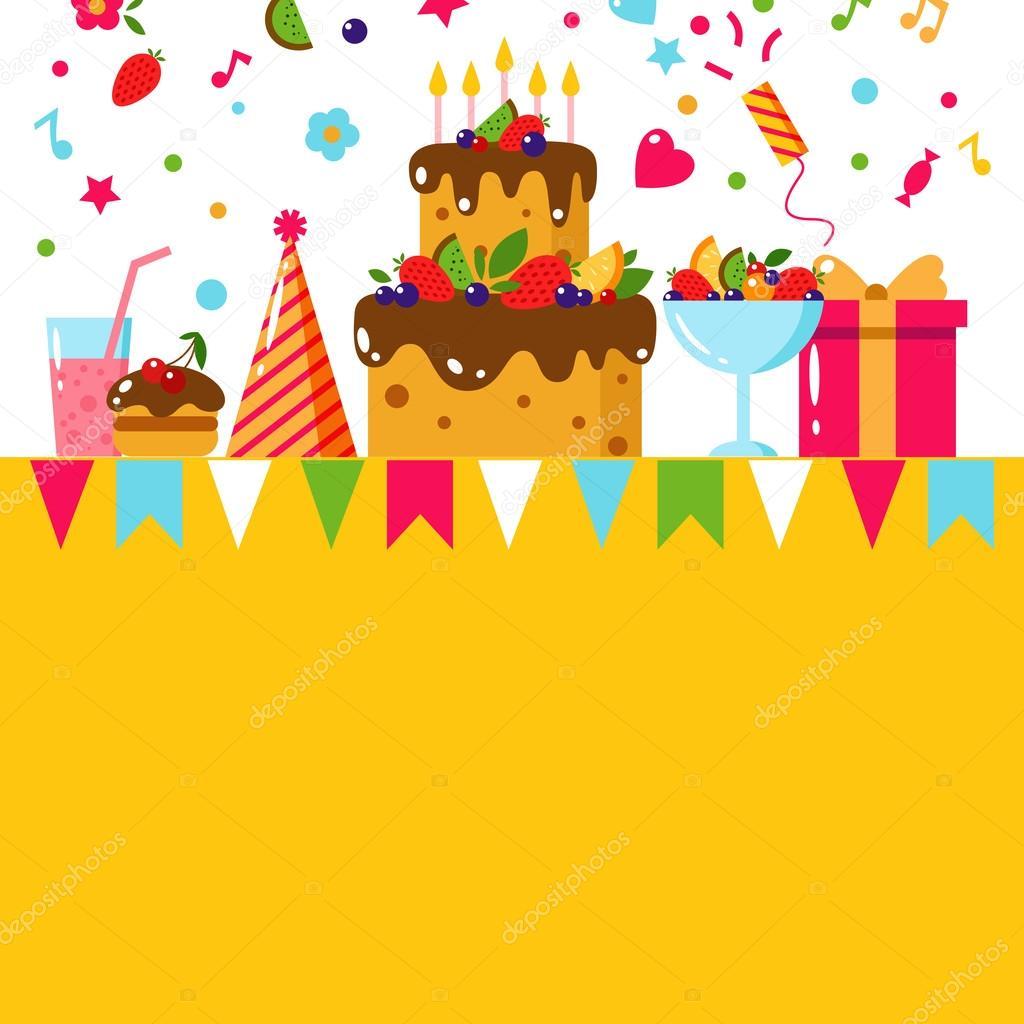 happy birthday template card stock vector zabavinaula 101124674