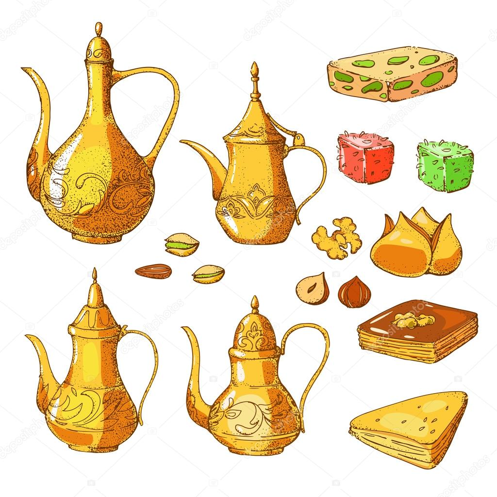 Traditional Arabic Food Stock Vector 169 Zabavinaula