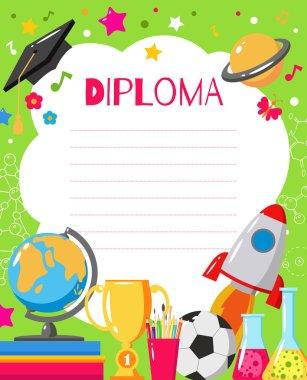Kids diploma for preschool