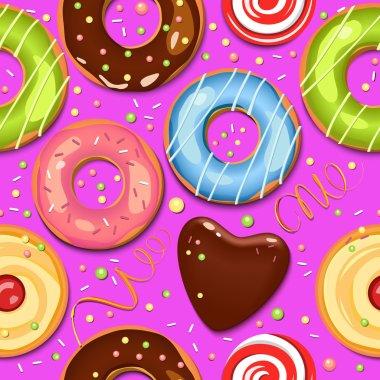 Sweets. Seamless pattern