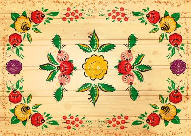 folk background on wood texture