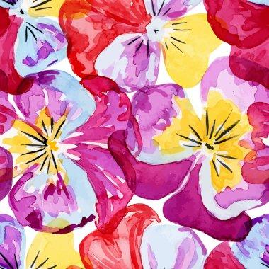 Viola. Seamless pattern