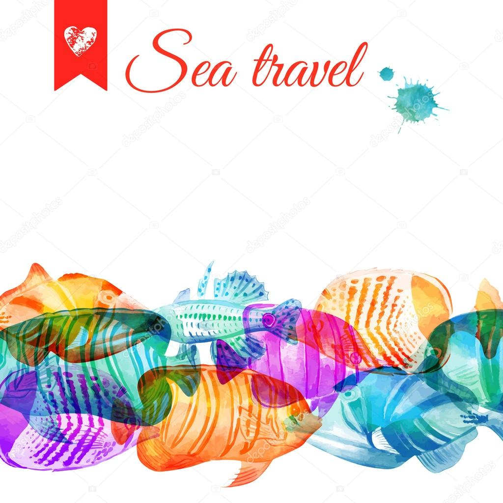 Tropical Fish Template Stock Vector