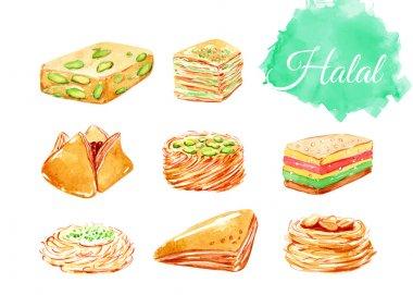 Islamic bakery background