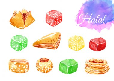 Islamic bakery background