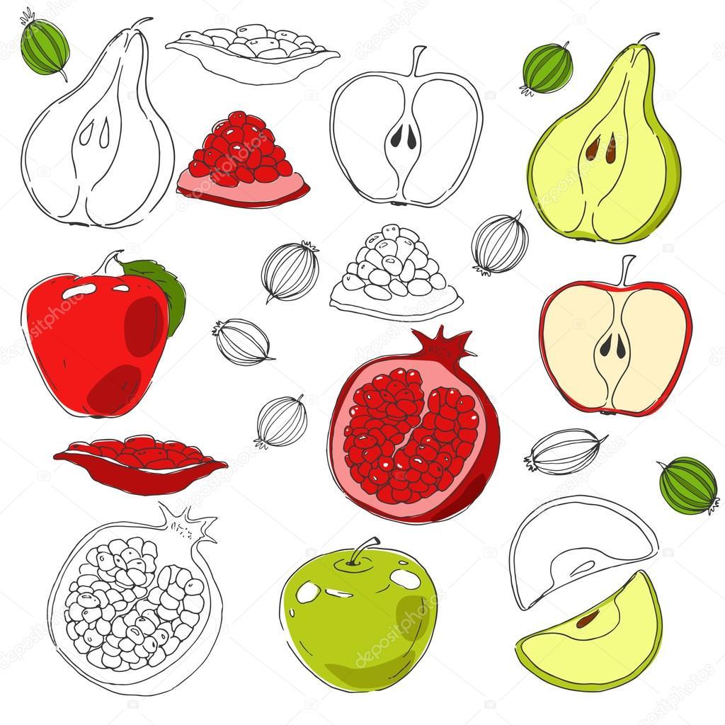 Нарисованные картинки для детей яблоки