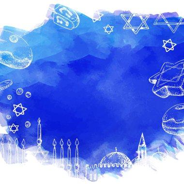 Hanukkah. Template card