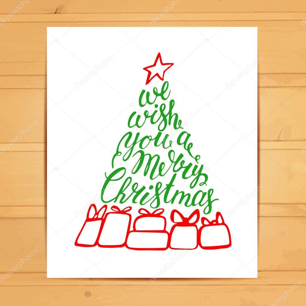 Wir wünschen Ihnen ein frohes Weihnachtsfest — Stockvektor ...