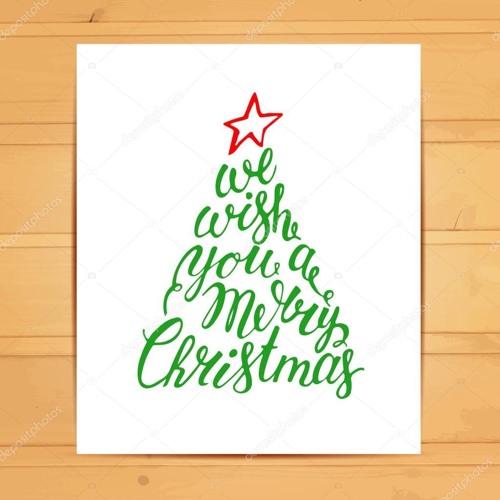 We wish you a Merry Christmas — Stock Vector © zabavinaula #91558330