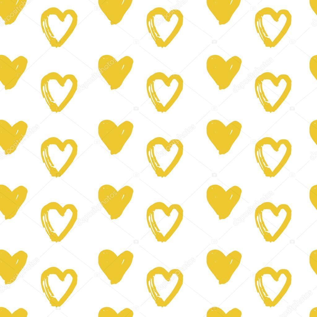 patrones sin fisuras con corazones de oro — Archivo Imágenes ...