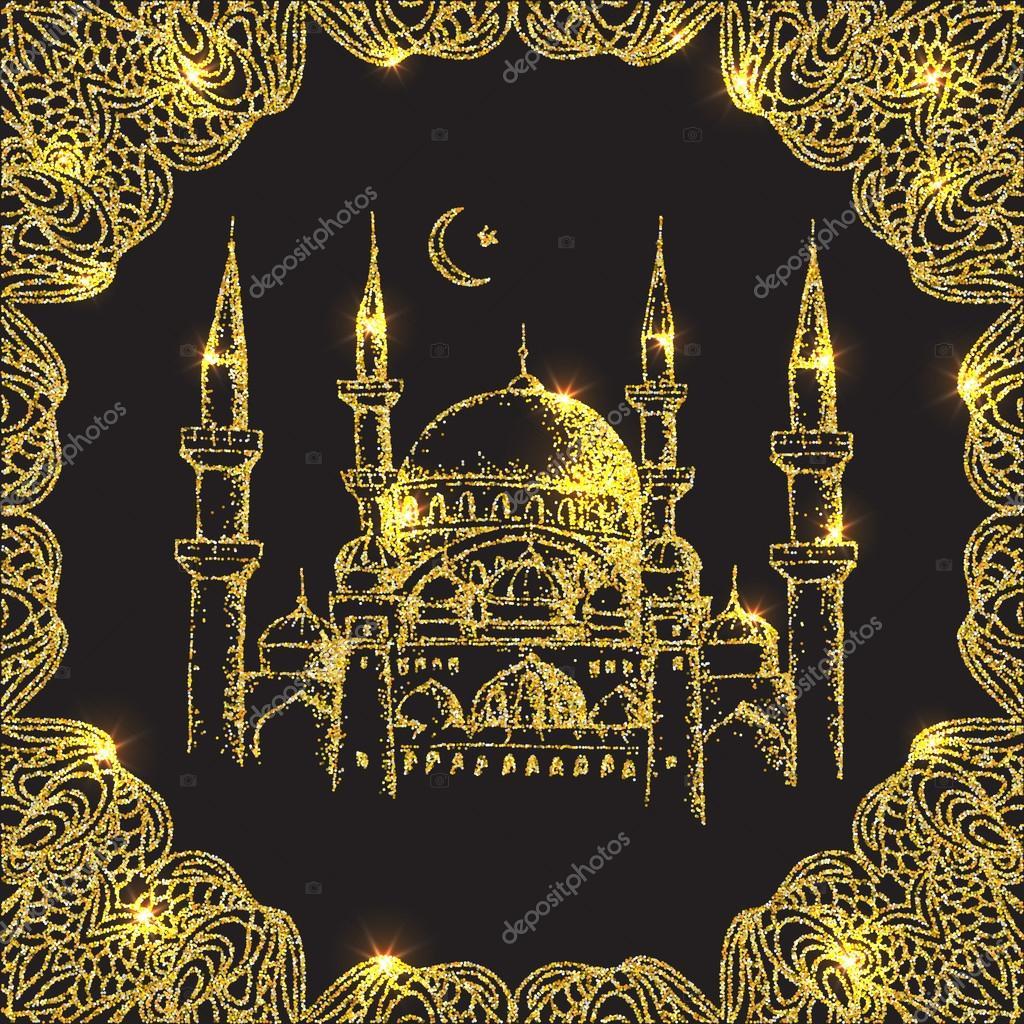 Mosque background for ramadan kareem stock photography image - Islamic Mosque Ramadan Kareem Stock Vector 97477940