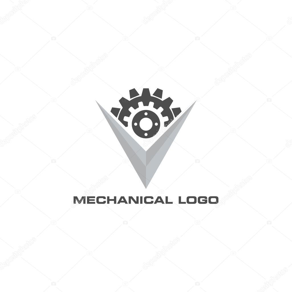 mechanical gear logo template � stock vector 169 mehibi