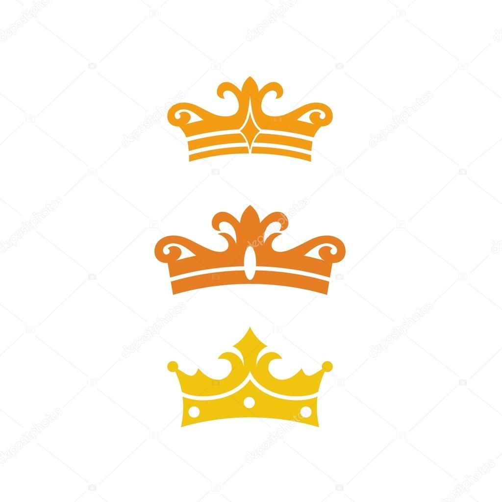 Plantilla corona en color plano — Vector de stock © mehibi #80346000