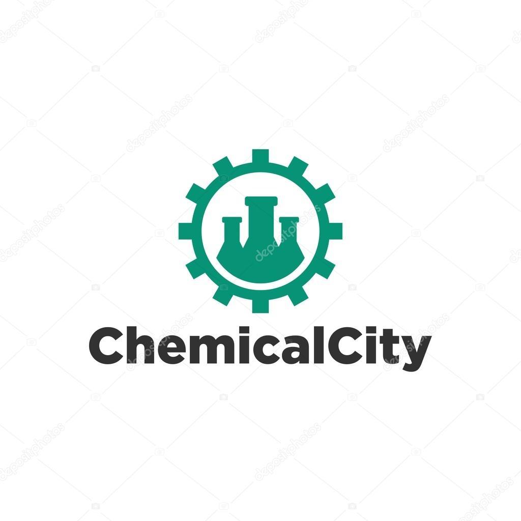 Plantilla de logotipo de laboratorio de QUIMICA — Archivo Imágenes ...