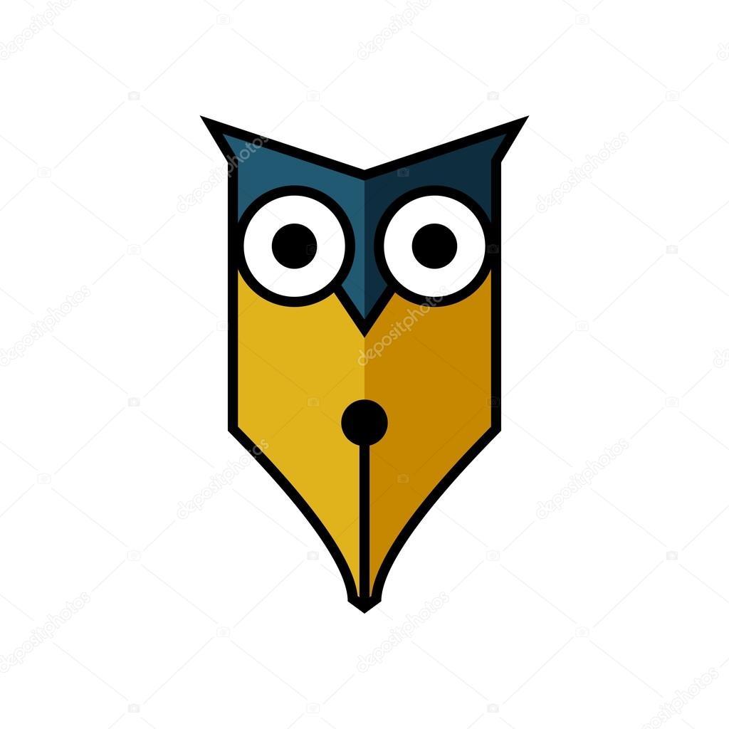 Eule-Logo-Vorlage — Stockvektor © mehibi #80459412