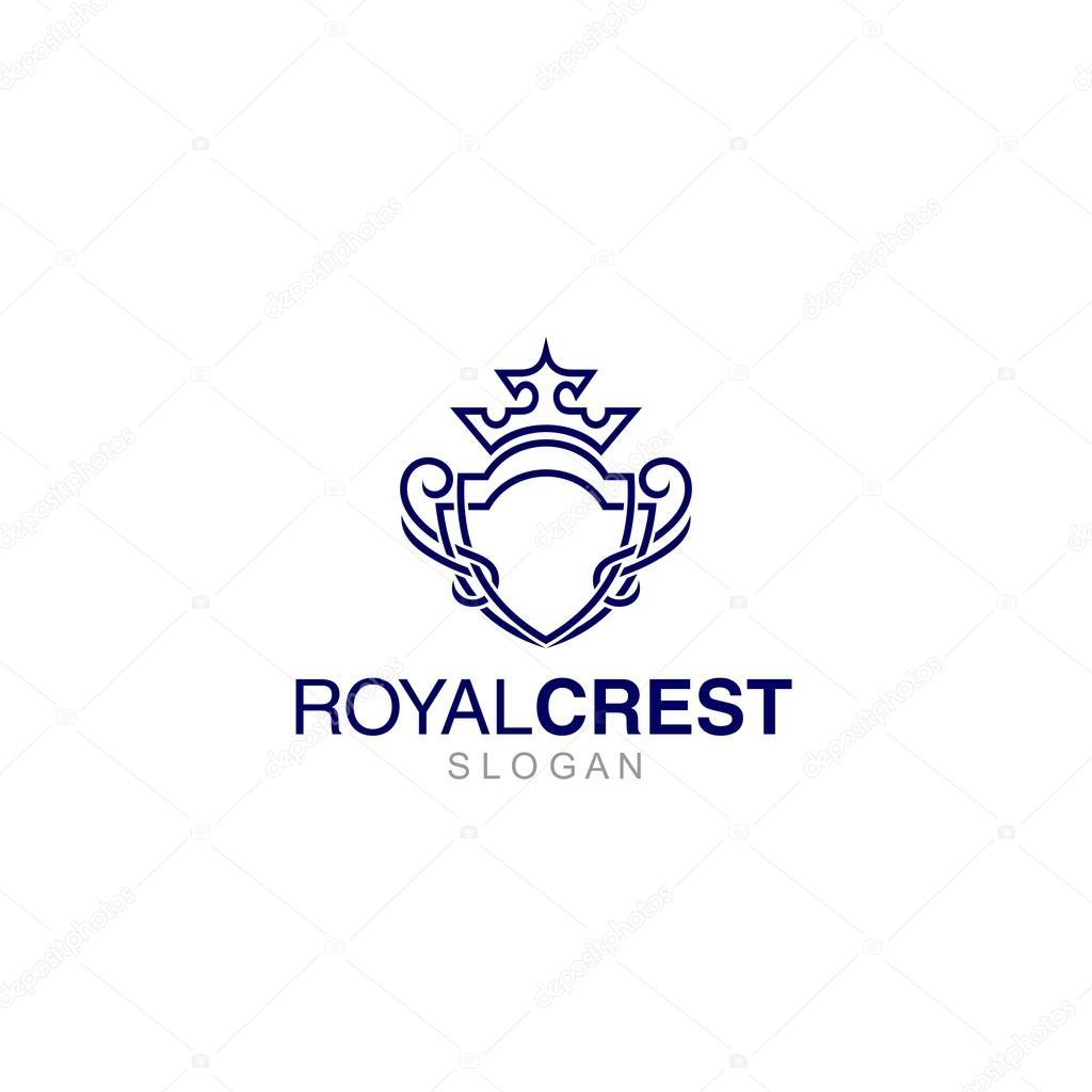 crest logo template stock vector mehibi 80675120