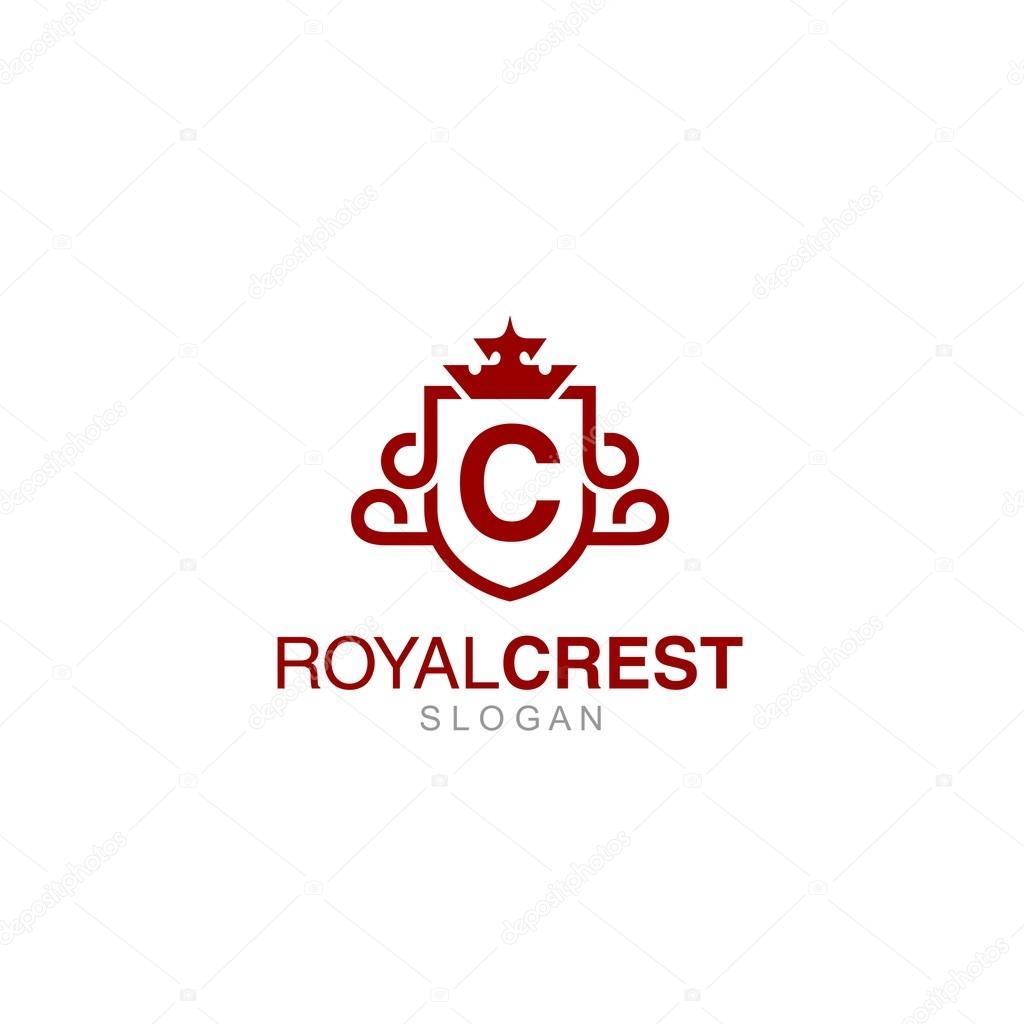 crest logo template stock vector mehibi 81007234
