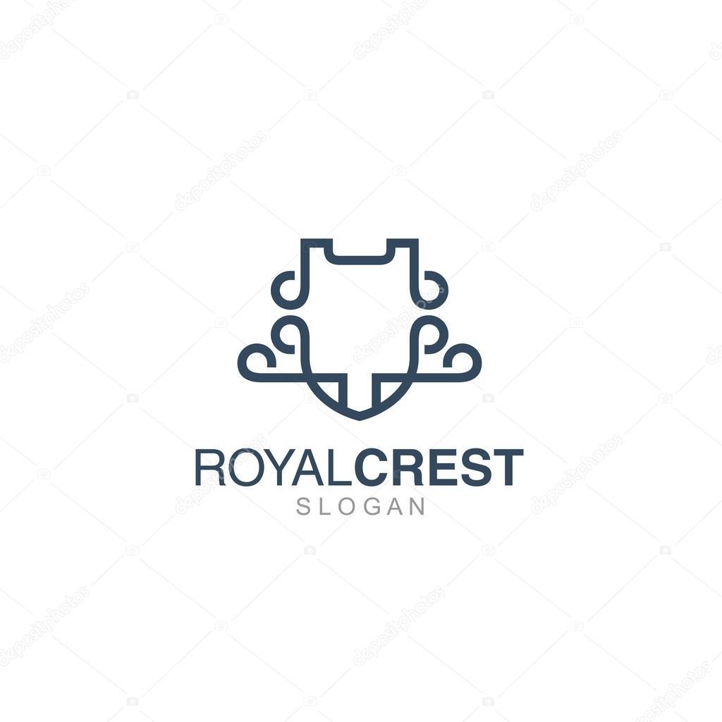 crest logo template stock vector mehibi 81205436