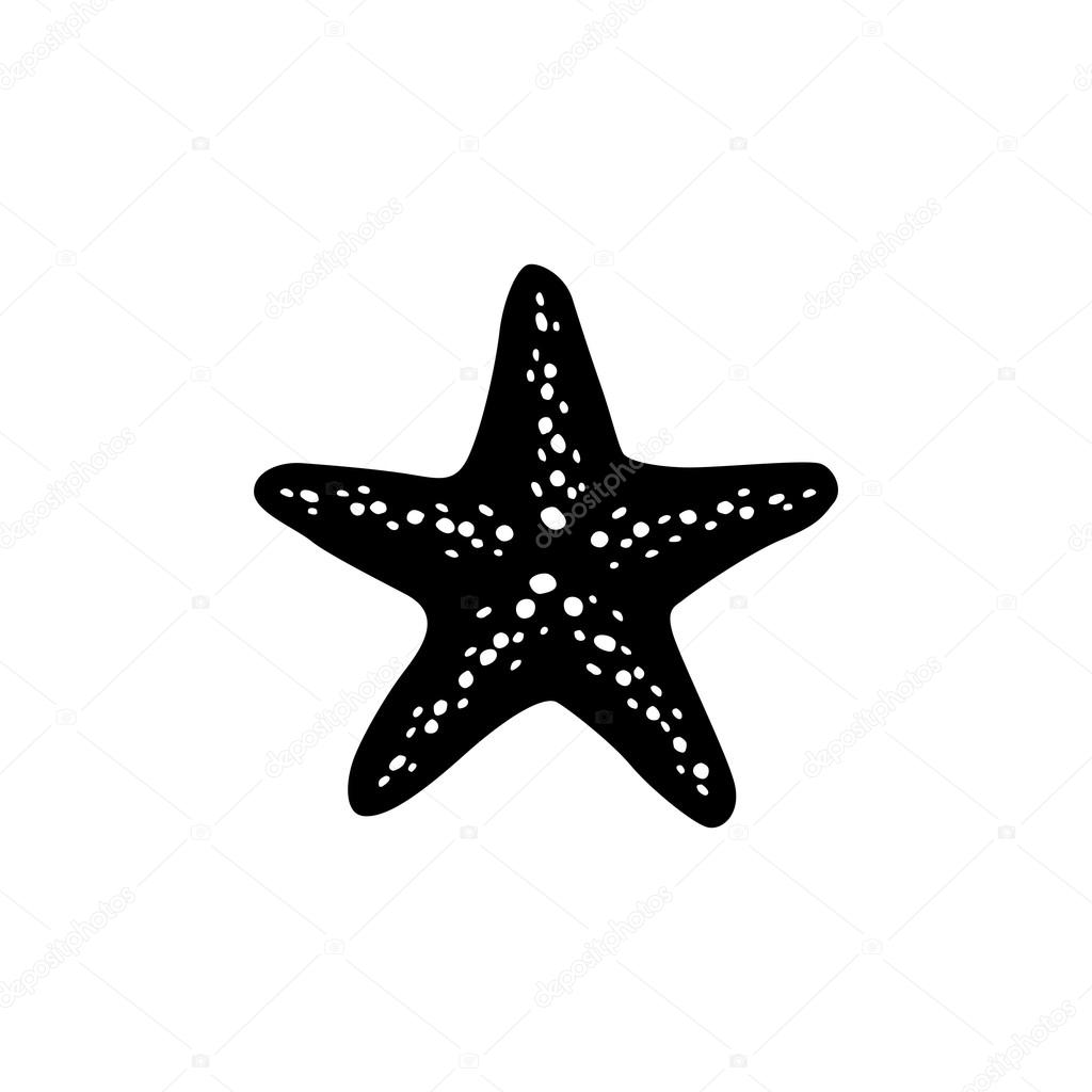 coral and star fish logo template stock vector mehibi 83088964