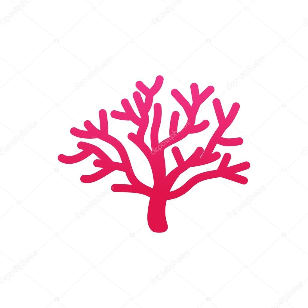 coral and star fish logo template ストックベクター mehibi 83088970