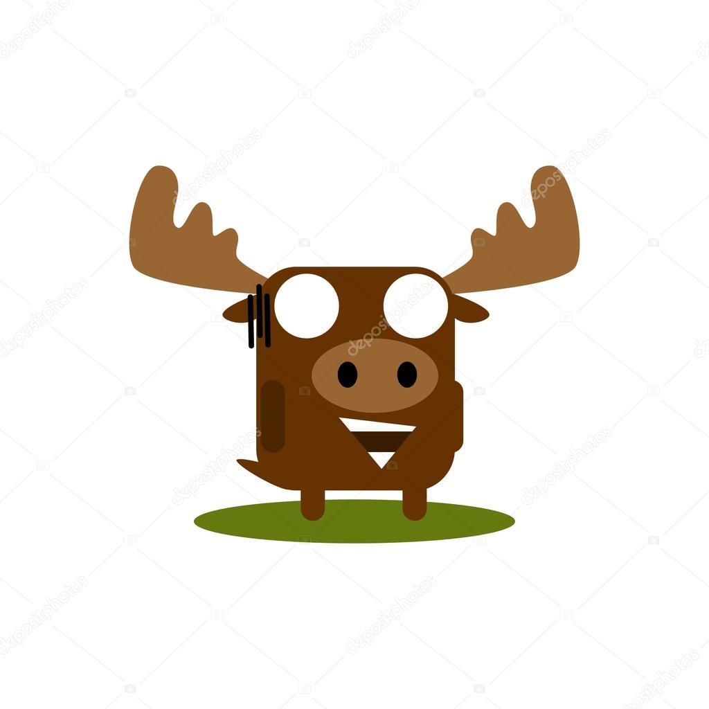 Elch Tier Ausdruck Vektor Vorlage — Stockvektor © mehibi #83537294