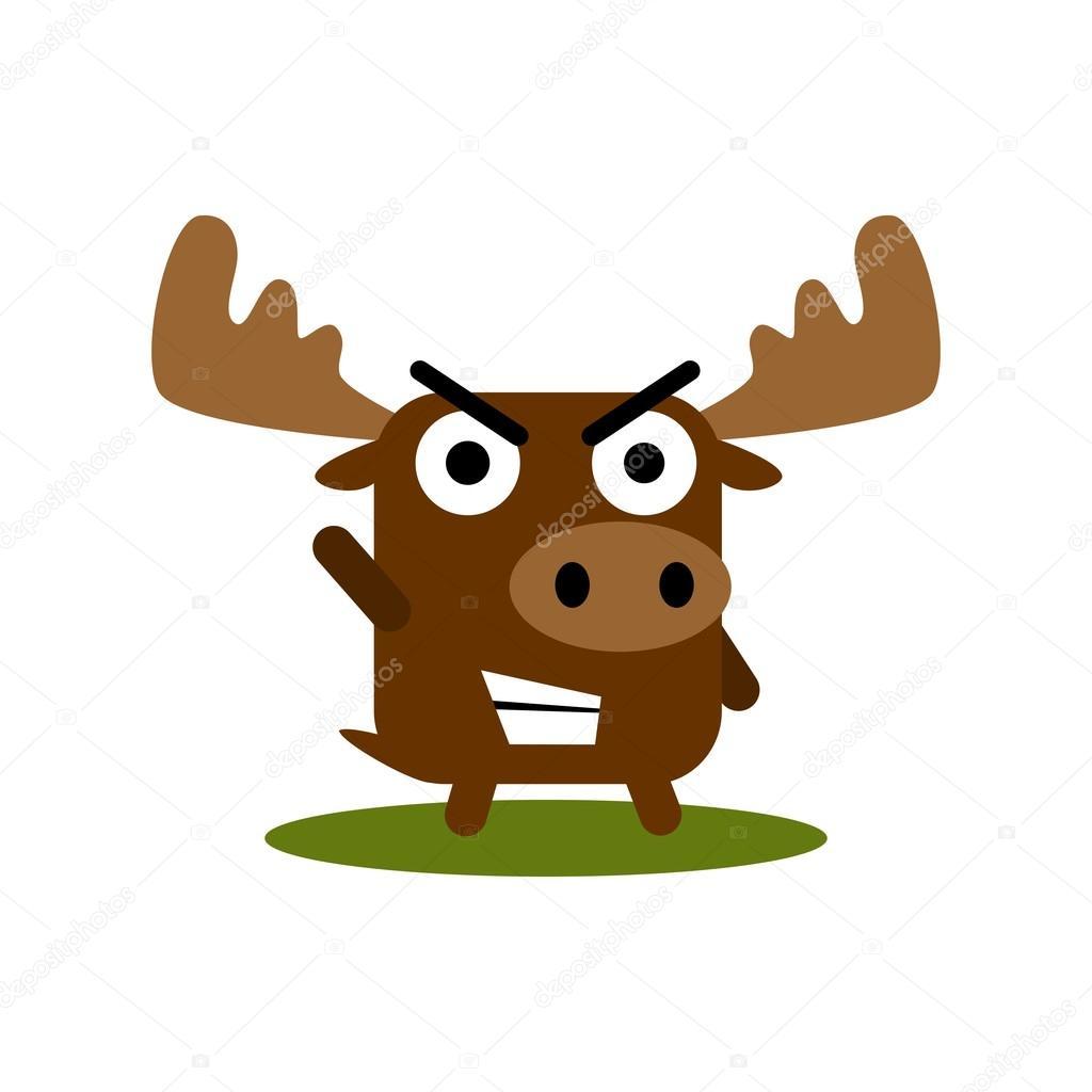 Elch Tier Ausdruck Vektor Vorlage — Stockvektor © mehibi #83537314