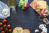 Sandwich a čerstvé přísady sendvič