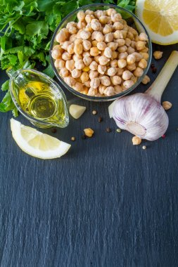 Hummus ingredients - chickpea