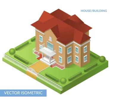 Isometric house and building