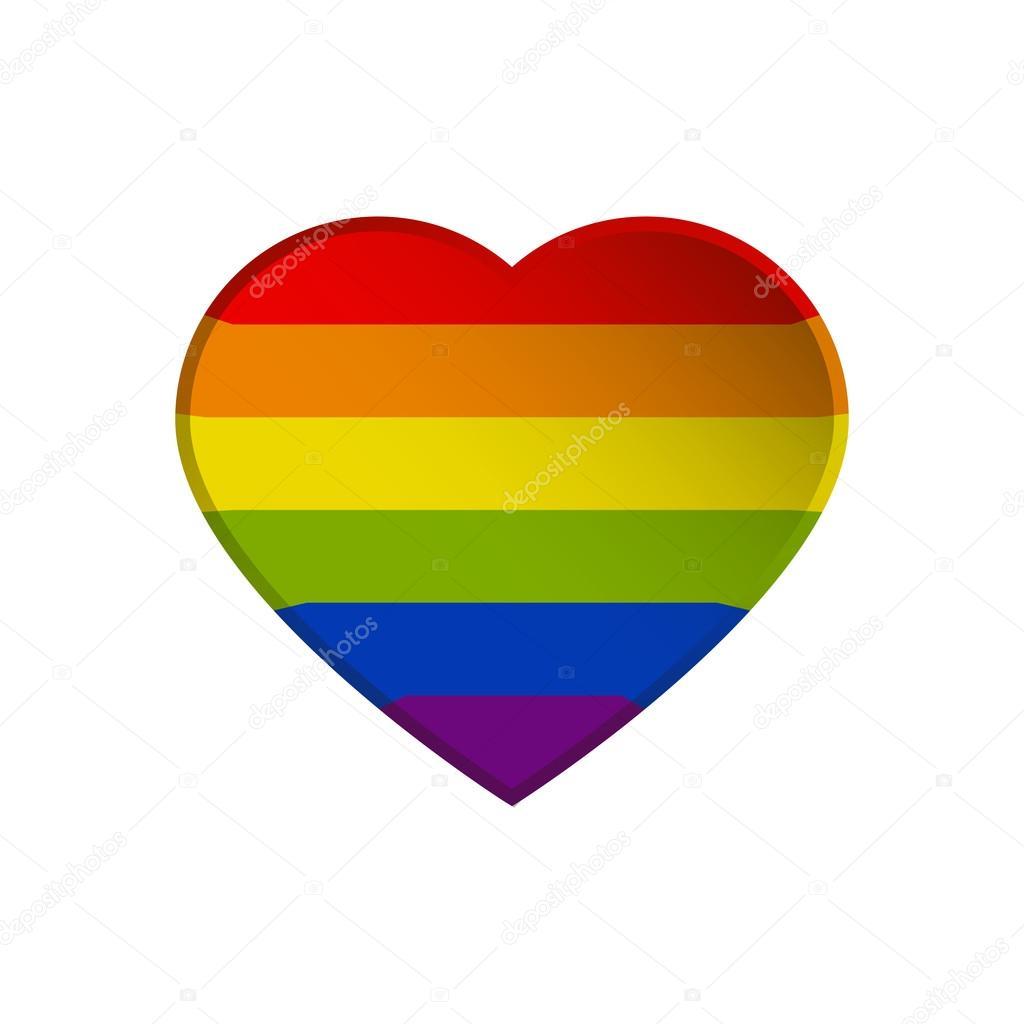 Zeer LGBT symbool, trots, vrijheid hart, regenboogkleuren — Stockvector @NV14