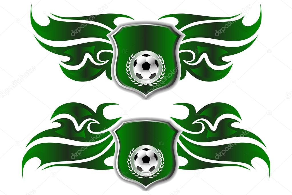 Football Badge Logo Design Templates Stock Vector C Dirtymonkeys