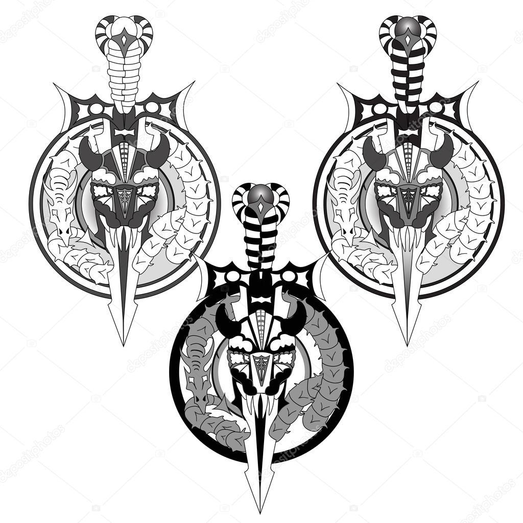 tatouage viking image vectorielle dirtymonkeys 80135228. Black Bedroom Furniture Sets. Home Design Ideas