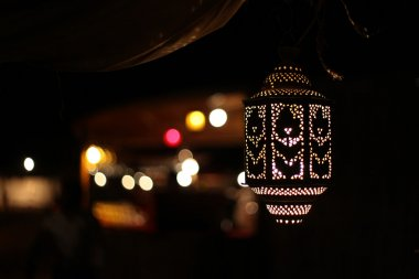 Arabic lamp and background lights, United Arab Emirates