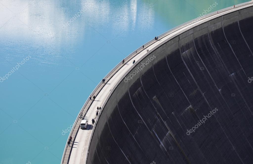 Kaprun Mooserboden water reservoirs - Artificial lake, dam, Austria