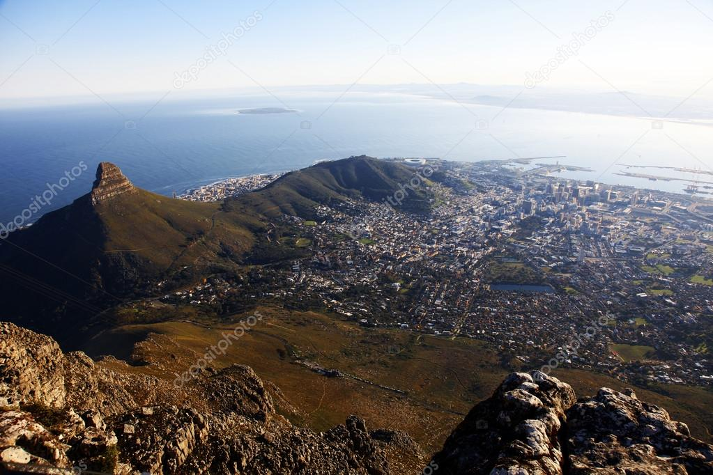 Capetown Views From The Tabletop Mountain South Africa Stock - Table top mountain south africa