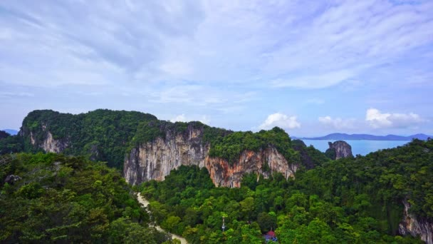 Koh Hong island New landmark to see Beautiful scenery view 360 degree at krabi province beautiful archipelago in turquoise water Amazing landscape top down nature view