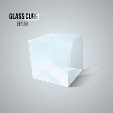 3D Glass Cube.