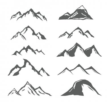 different mountains
