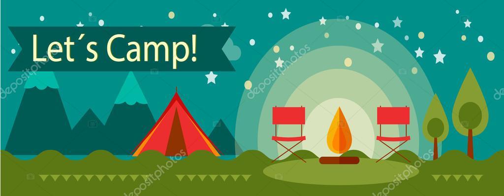 Adventure Camping Tourism Stock Vector C Denisxize 103397508