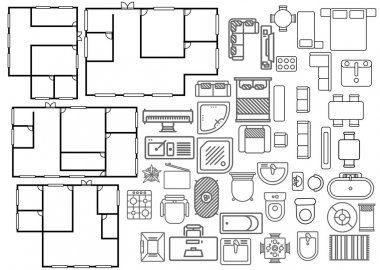 Architecture plan in top view