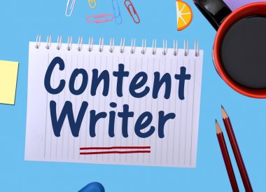 Content Writer Concept Image wrriten on notepad
