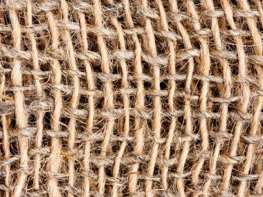Close up of burlap texture background