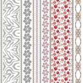 Fotografie Spitze, nahtlose Jahrgang Seidentapeten mit unkonventionellen Stil-Elementen und floralen Mustern suchen