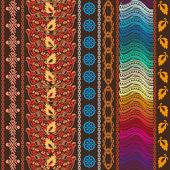 Fotografie Bunte Böhmische Muster mit Motiven der Aborigines Kunst