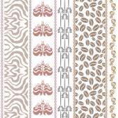 Fotografie Art-Deco Vintage Seiden Tapete mit Fantasie antike Motive. Zebra print, Damaris Grenzen, Kaffee-Muster, Scroll Streifen Boho-Elemente