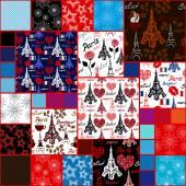 Mega set. Paris seamless patterns