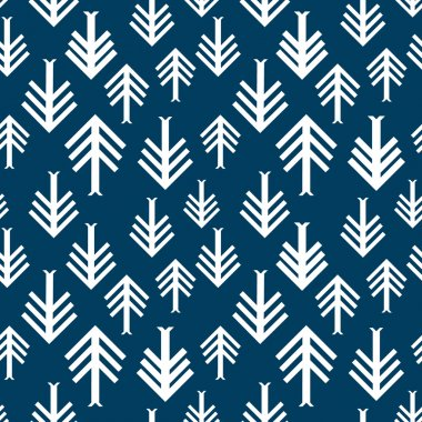 Spring mood. Modern geometric seamless pattern. Inspired by American Indians arts. Firs, arrows, zig zag background.